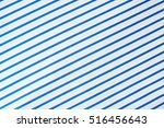 close up of blue stripes on... | Shutterstock . vector #516456643