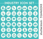 big industry icon set | Shutterstock .eps vector #516463243