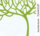 beautiful abstract tree. vector ... | Shutterstock .eps vector #516465187