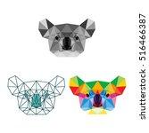 koala polygonal geometric logo... | Shutterstock .eps vector #516466387