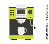 coffee machine with a cup icon... | Shutterstock .eps vector #516493477