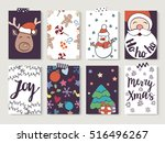 christmas and new year gift...   Shutterstock .eps vector #516496267