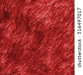 Painted Red Natural Fur Textur...