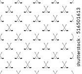 crossed golf clubs pattern.... | Shutterstock .eps vector #516501613
