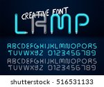 creative realistic lamps font.... | Shutterstock .eps vector #516531133
