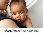 adorable cute african newborn... | Shutterstock . vector #516534403
