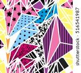 geometric modern seamless... | Shutterstock .eps vector #516541987