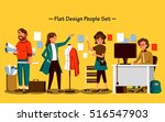 flat design people set  the... | Shutterstock .eps vector #516547903