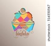 illustration of happy birthday... | Shutterstock .eps vector #516550567