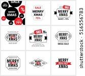 christmas sale label set | Shutterstock .eps vector #516556783