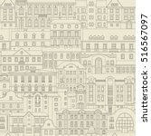 vector seamless vintage pattern ...   Shutterstock .eps vector #516567097