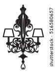 baroque elegant lamp vintage... | Shutterstock .eps vector #516580657