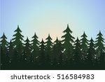 Landscape With Fir Trees ...