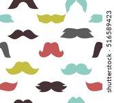 mustaches seamless pattern... | Shutterstock .eps vector #516589423
