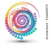 abstract colorful swirl shape... | Shutterstock .eps vector #516600073