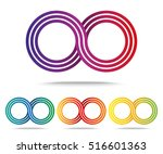 set of colored infinity sign... | Shutterstock .eps vector #516601363