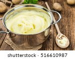 portion of homemade mashed...   Shutterstock . vector #516610987