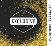 label or tag design on gold... | Shutterstock .eps vector #516621487