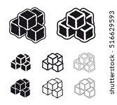 ice cube black symbols vector | Shutterstock .eps vector #516629593