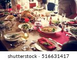 family together christmas... | Shutterstock . vector #516631417