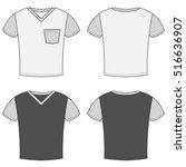t shirt design templates. front ...   Shutterstock .eps vector #516636907