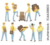 delivery and moving company... | Shutterstock .eps vector #516638803