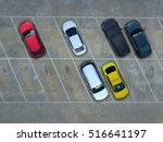 empty parking lots  aerial view.   Shutterstock . vector #516641197