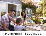 family at home eating outdoor... | Shutterstock . vector #516646333