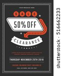 black friday sale flyer or... | Shutterstock .eps vector #516662233