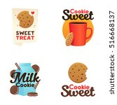 set confectionery banners ... | Shutterstock .eps vector #516668137