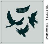 illustration of birds... | Shutterstock .eps vector #516681403