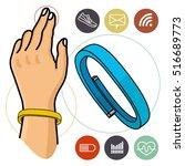 vector illustration of fitness... | Shutterstock .eps vector #516689773