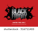 black friday sale banner | Shutterstock .eps vector #516711403