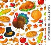 seamless pattern of... | Shutterstock .eps vector #516716497