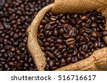 roasted coffee beans | Shutterstock . vector #516716617