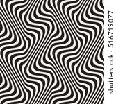wavy lines optical illusion.... | Shutterstock .eps vector #516719077