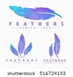 logo templates set of different ... | Shutterstock .eps vector #516724153