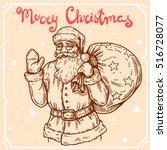 vector illustration of santa...   Shutterstock .eps vector #516728077