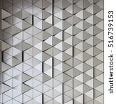 Small photo of Abstract close-up view of modern aluminum ventilated triangles on facade