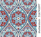 seamless colorful turkish... | Shutterstock .eps vector #516741097