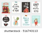 collection of 8 cute merry... | Shutterstock .eps vector #516743113
