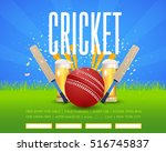 cricket poster event info... | Shutterstock .eps vector #516745837