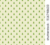 Christmas Trees Pattern. Vecto...