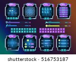 game ui. space graphical user... | Shutterstock .eps vector #516753187