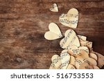 paper hearts with music notes... | Shutterstock . vector #516753553