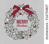 merry christmas and happy new... | Shutterstock .eps vector #516754807
