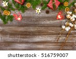 christmas background with... | Shutterstock . vector #516759007