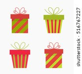 christmas presents icons.... | Shutterstock .eps vector #516767227