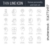 icons set of human personality... | Shutterstock .eps vector #516771457
