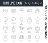 icons set of design thinking....
